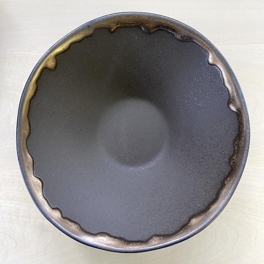 鉢 ボウル 盛鉢 おしゃれ ボール 金流したわみ 中鉢 17.3cm 盛皿 皿 食器 陶器 minopota 02