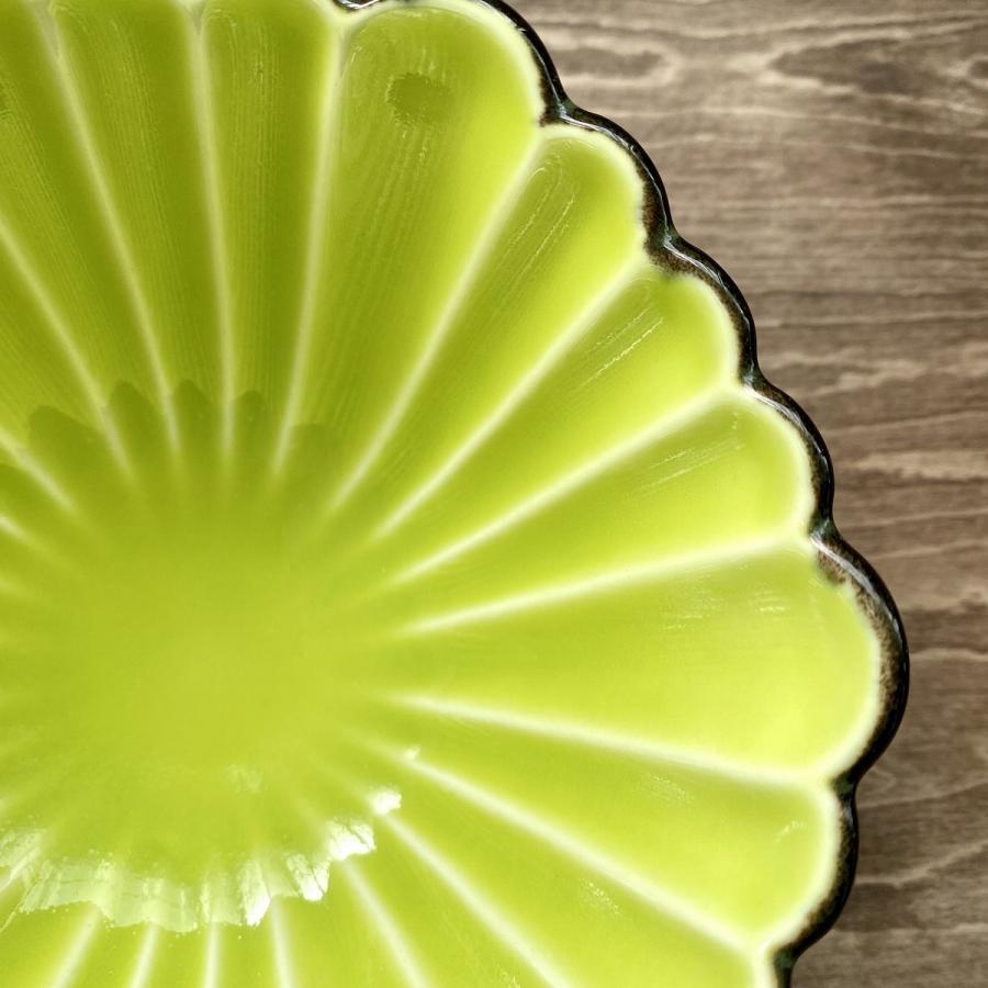中鉢 おしゃれ グリーン 菊型六角小鉢 食器 陶器 うつわ 美濃焼 |minopota|03