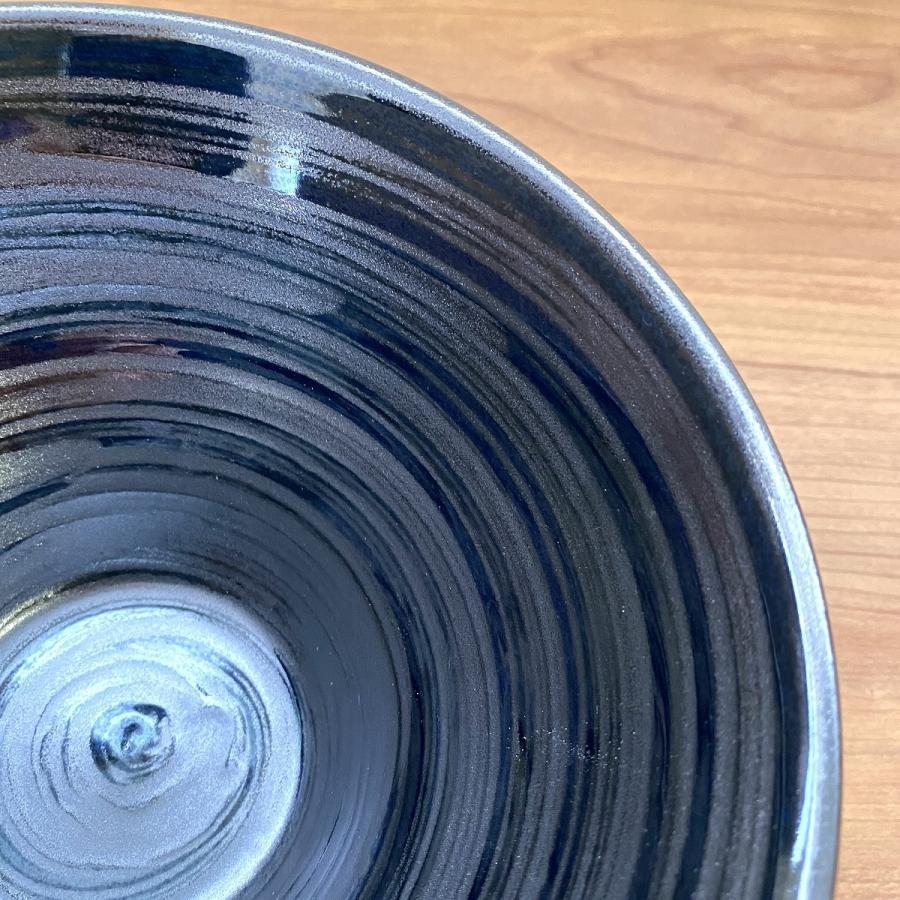 丼 どんぶり ボウル おしゃれ 刷毛巻銀彩 そり丼 18.6cm ラーメン うどん 鉢 ボール 食器 陶器 minopota 03