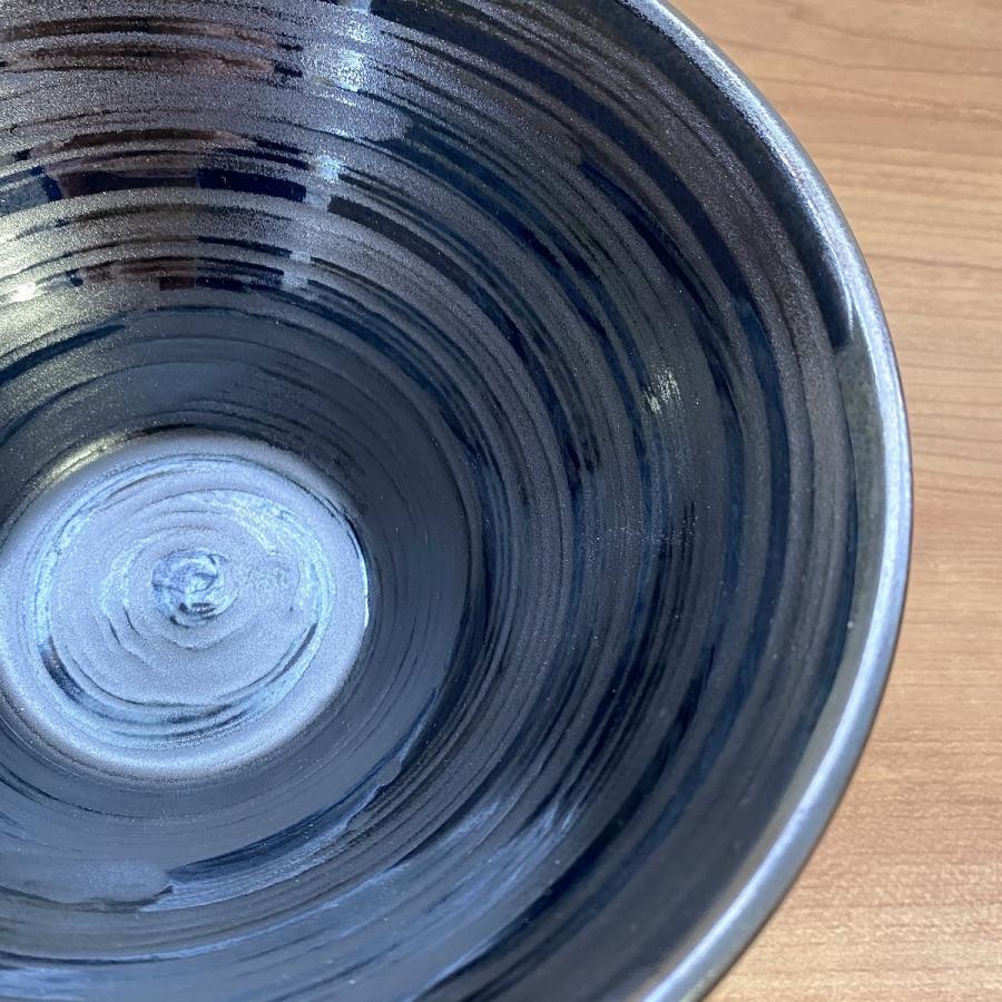 丼 どんぶり ボウル おしゃれ 刷毛巻銀彩 そり丼 18.6cm ラーメン うどん 鉢 ボール 食器 陶器 minopota 07