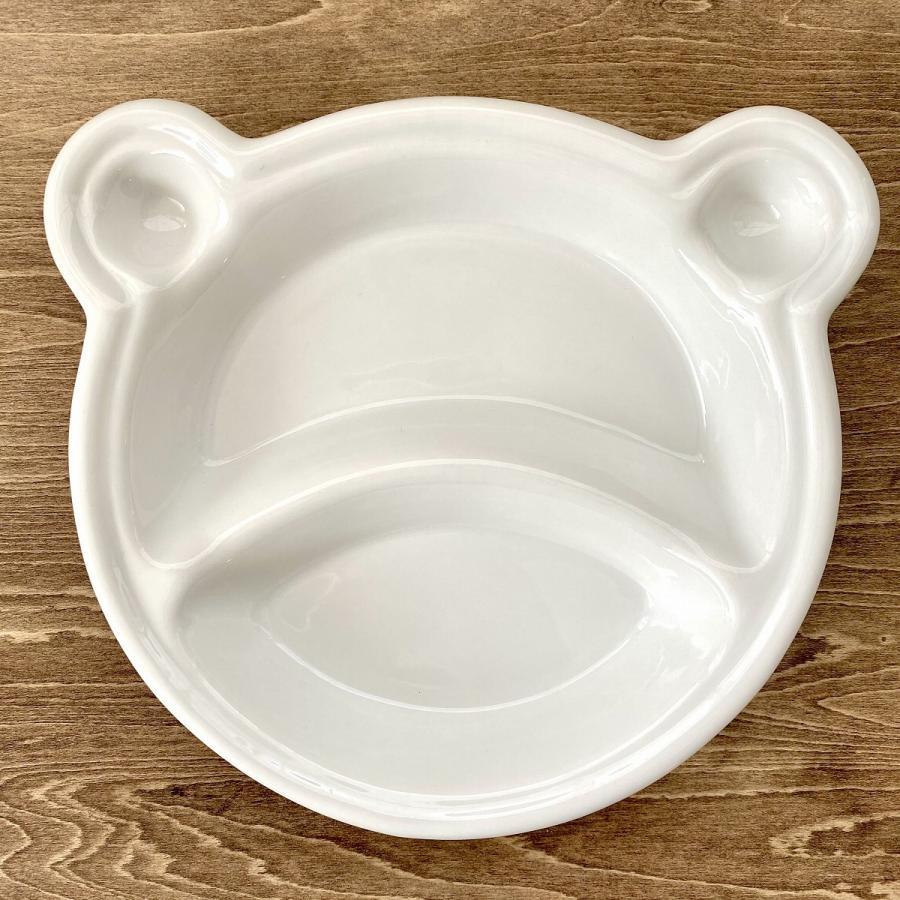 キッズ ランチプレート くまちゃんキッズプレート 食器 うつわ 陶器 白いうつわ |minopota|02