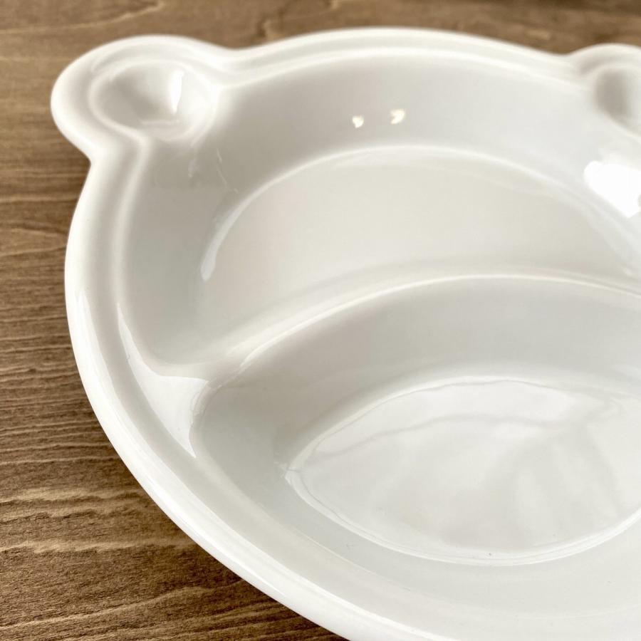 キッズ ランチプレート くまちゃんキッズプレート 食器 うつわ 陶器 白いうつわ |minopota|03