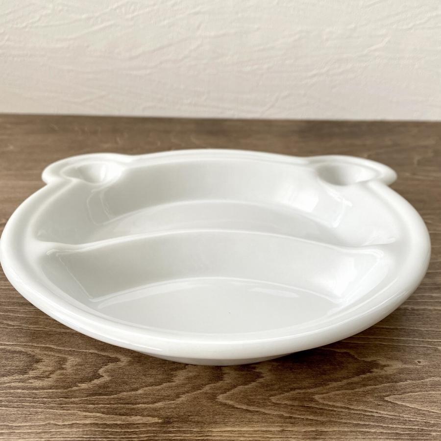 キッズ ランチプレート くまちゃんキッズプレート 食器 うつわ 陶器 白いうつわ |minopota|04