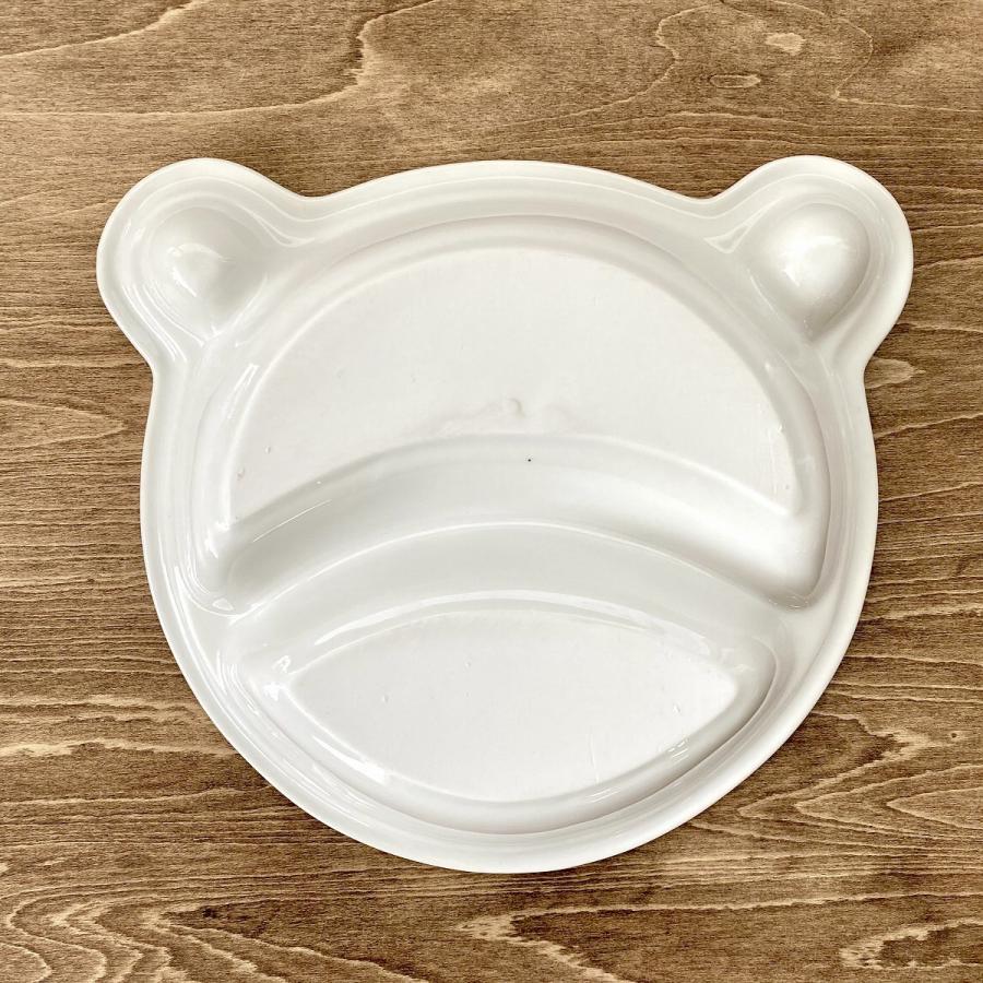 キッズ ランチプレート くまちゃんキッズプレート 食器 うつわ 陶器 白いうつわ |minopota|05
