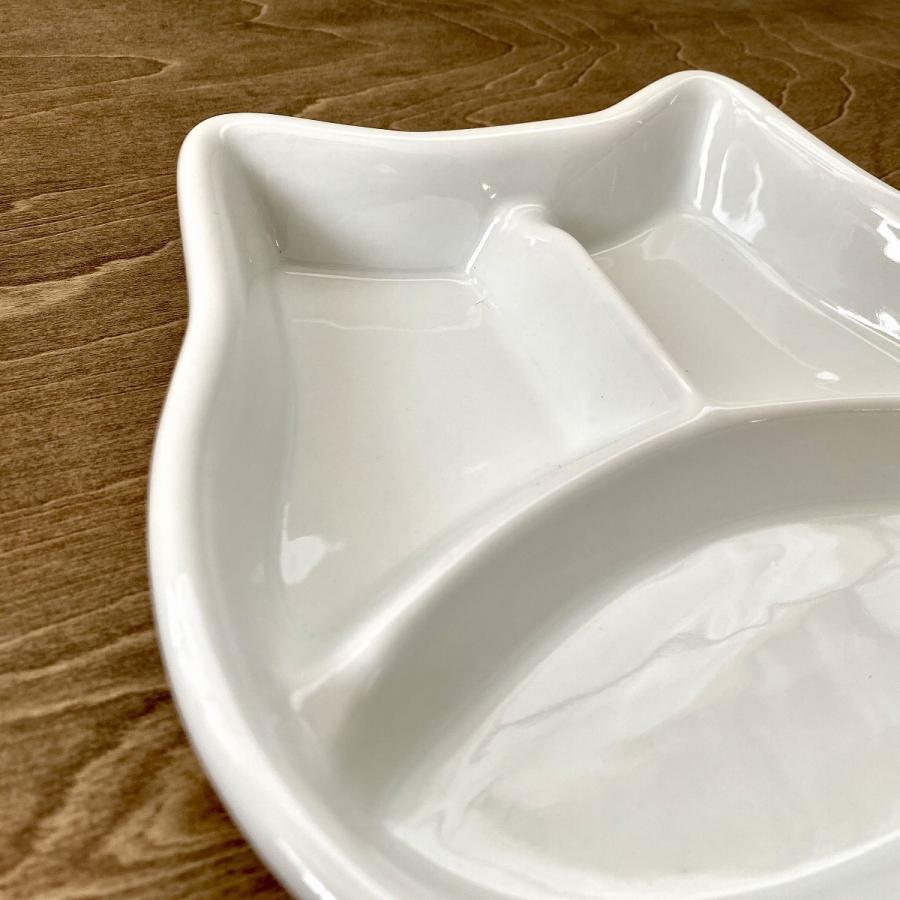 キッズ ランチプレート ねこちゃんキッズプレート 食器 うつわ 陶器 白いうつわ ネコ 猫|minopota|03