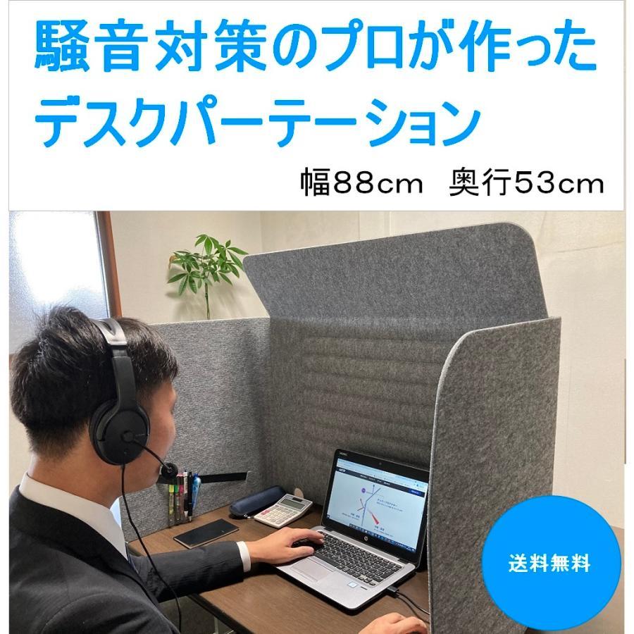 ミノリ・テーブル・パーテーション 無敵のプライベート空間 防音対策 飛沫防止 (約)幅88cm×奥行53cm×高さ55cm 重量1.75kg|minori-kogyo
