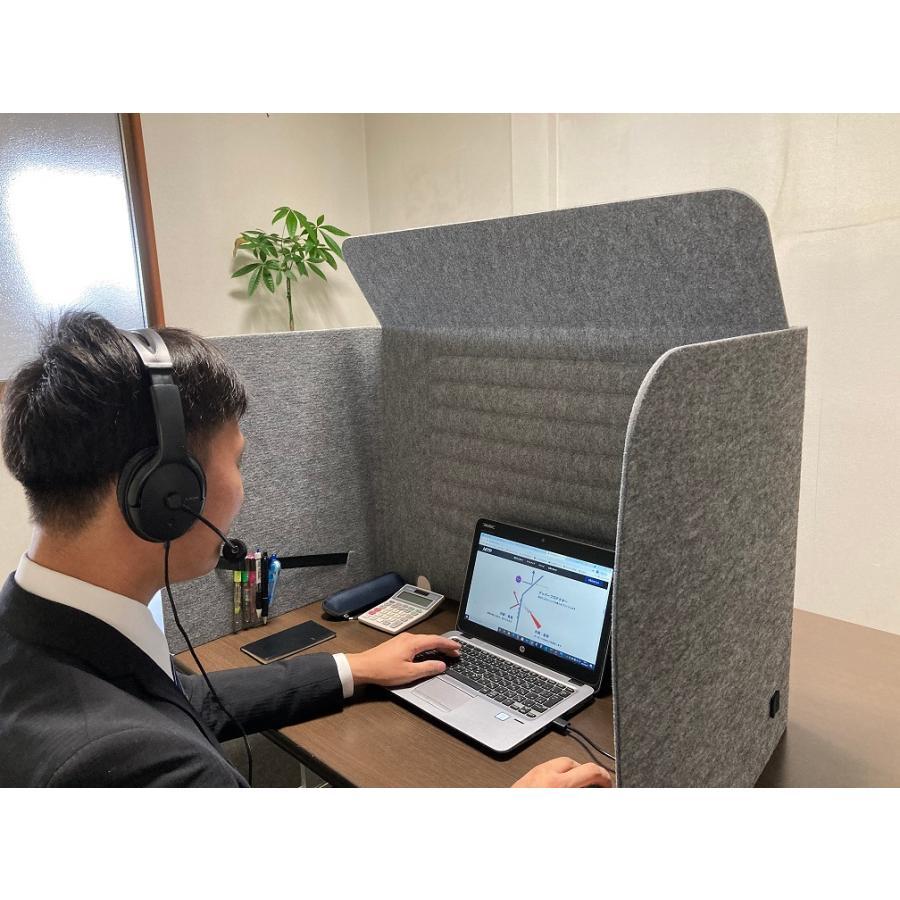 ミノリ・テーブル・パーテーション 無敵のプライベート空間 防音対策 飛沫防止 (約)幅88cm×奥行53cm×高さ55cm 重量1.75kg|minori-kogyo|08