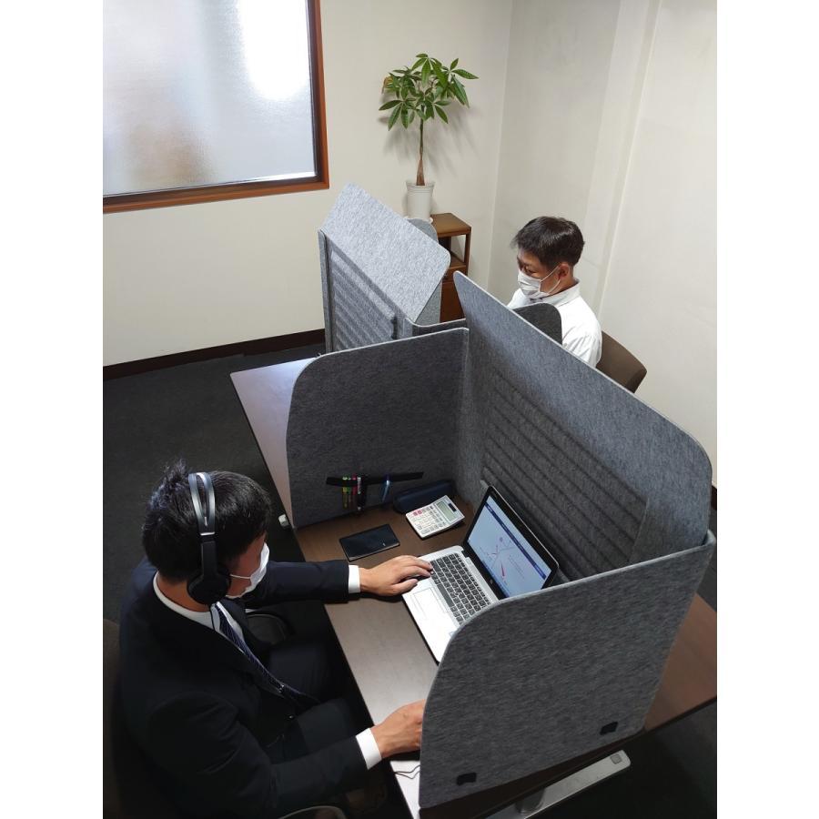ミノリ・テーブル・パーテーション 無敵のプライベート空間 防音対策 飛沫防止 (約)幅88cm×奥行53cm×高さ55cm 重量1.75kg|minori-kogyo|09