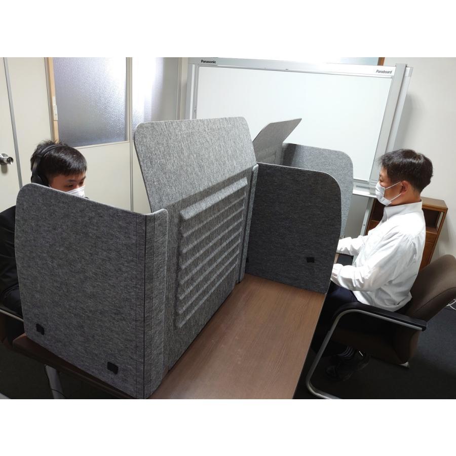 ミノリ・テーブル・パーテーション 無敵のプライベート空間 防音対策 飛沫防止 (約)幅88cm×奥行53cm×高さ55cm 重量1.75kg|minori-kogyo|10