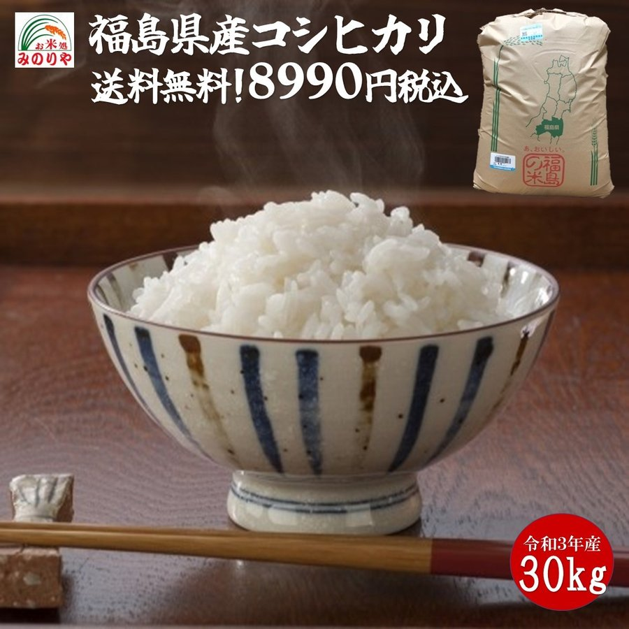 令和2年産 福島県産コシヒカリ 玄米30kg 「ふくしまプライド。体感キャンペーン(お米)」  ポイント消化 送料無料   minoriya777