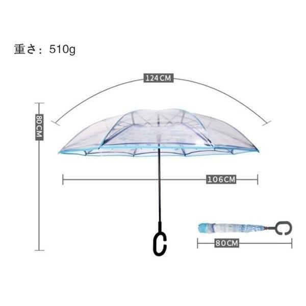逆さ傘傘晴雨兼用透明花さかさ傘さかさかささかさま傘レディースメンズ日焼け対策UVカット逆向き逆さまの傘長傘濡れない minto 02