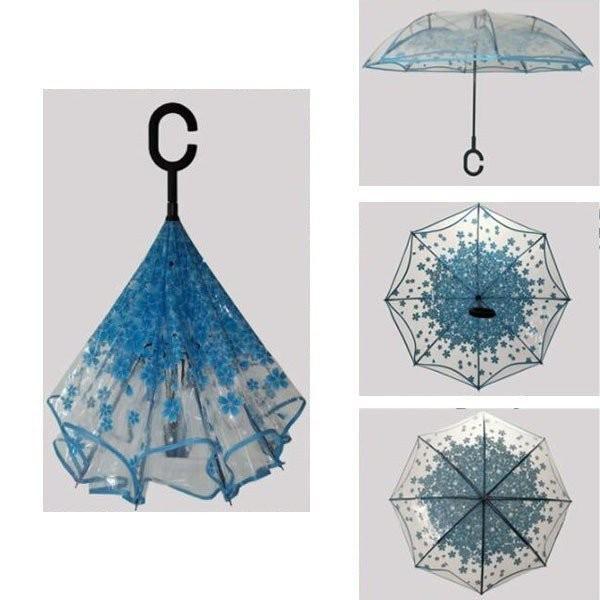 逆さ傘傘晴雨兼用透明花さかさ傘さかさかささかさま傘レディースメンズ日焼け対策UVカット逆向き逆さまの傘長傘濡れない minto 05