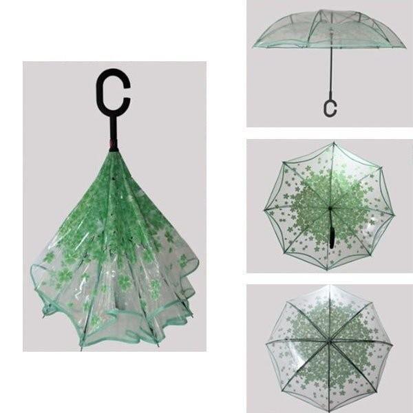逆さ傘傘晴雨兼用透明花さかさ傘さかさかささかさま傘レディースメンズ日焼け対策UVカット逆向き逆さまの傘長傘濡れない minto 06