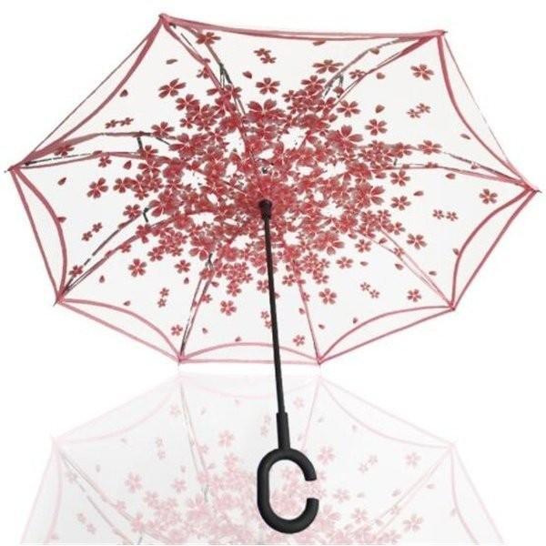 逆さ傘傘晴雨兼用透明花さかさ傘さかさかささかさま傘レディースメンズ日焼け対策UVカット逆向き逆さまの傘長傘濡れない minto 10