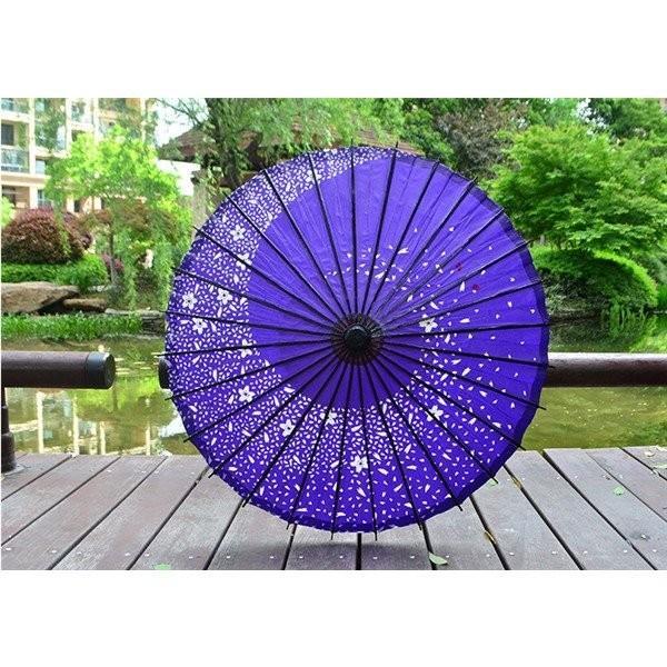 傘和傘番傘紙傘舞踊傘唐傘和装和風晴雨兼用長傘 minto 09