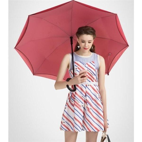 傘逆さ傘晴雨兼用UVカット遮光レディースメンズ日傘男女兼用さかさま傘逆さま傘逆向き逆さまの傘折りたたみ自動開閉おしゃれ折りたたみ傘|minto|10