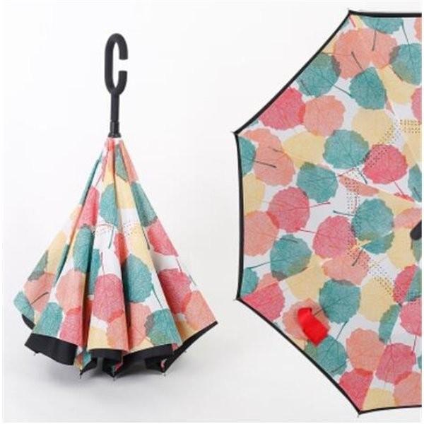 逆さ傘長傘メンズレディースさかさま傘逆折り傘遮光遮熱逆向き長傘逆さま傘晴雨兼用UVカット男女兼用日傘|minto|11