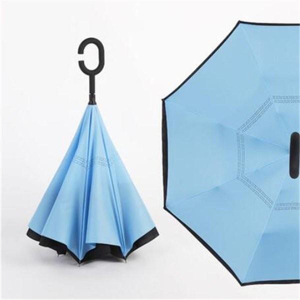 逆さ傘長傘メンズレディースさかさま傘逆折り傘遮光遮熱逆向き長傘逆さま傘晴雨兼用UVカット男女兼用日傘|minto|13