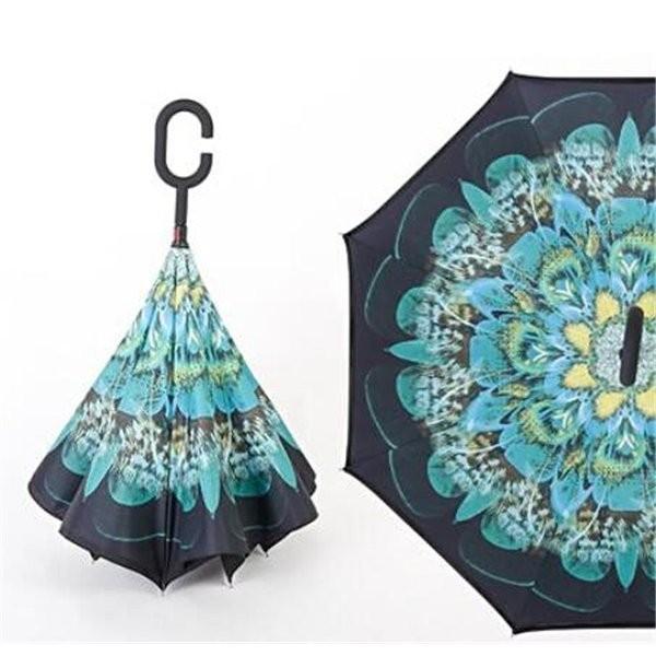 逆さ傘長傘メンズレディースさかさま傘逆折り傘遮光遮熱逆向き長傘逆さま傘晴雨兼用UVカット男女兼用日傘|minto|17