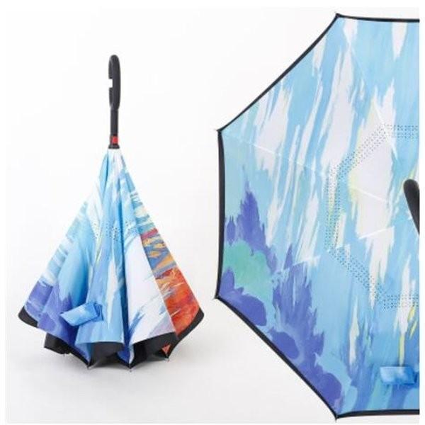 逆さ傘長傘メンズレディースさかさま傘逆折り傘遮光遮熱逆向き長傘逆さま傘晴雨兼用UVカット男女兼用日傘|minto|05