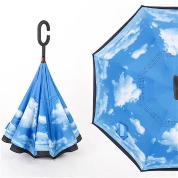 逆さ傘長傘メンズレディースさかさま傘逆折り傘遮光遮熱逆向き長傘逆さま傘晴雨兼用UVカット男女兼用日傘|minto|06