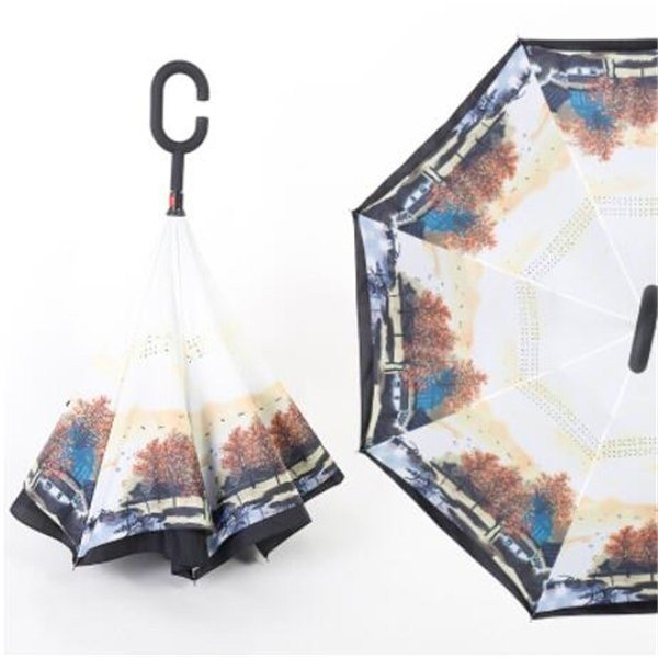 逆さ傘長傘メンズレディースさかさま傘逆折り傘遮光遮熱逆向き長傘逆さま傘晴雨兼用UVカット男女兼用日傘|minto|08