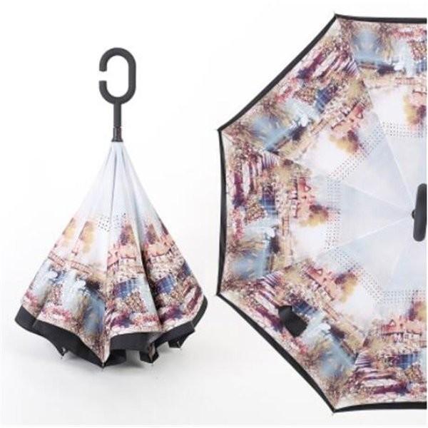 逆さ傘長傘メンズレディースさかさま傘逆折り傘遮光遮熱逆向き長傘逆さま傘晴雨兼用UVカット男女兼用日傘|minto|09
