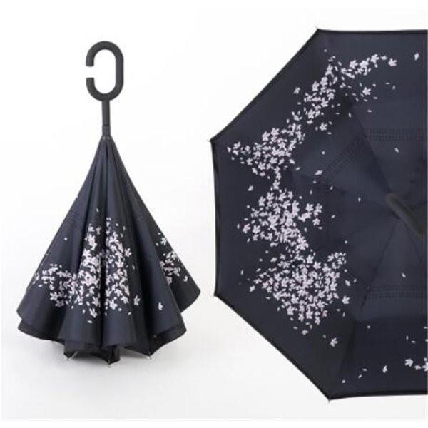 逆さ傘長傘メンズレディースさかさま傘逆折り傘遮光遮熱逆向き長傘逆さま傘晴雨兼用UVカット男女兼用日傘|minto|10