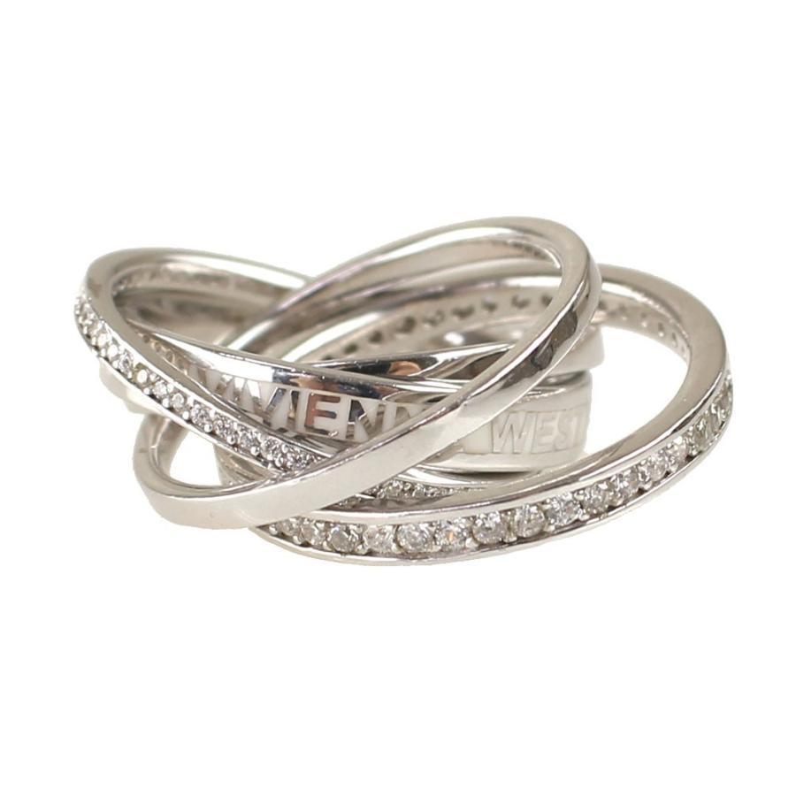 品質のいい ヴィヴィアン ユニセックス 指輪・リング VIVIENNE WESTWOOD SR1205 1-ST SIL ホワイト系, 西田精麦 44999347
