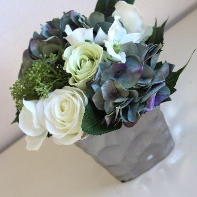フラワーベース 花瓶 陶器 シルバーcolor モダンシックなフラワーベース 花器 花瓶 サイズM 和モダン MONOTONE 白黒 ブラック モダン 北欧 おしゃれ mirage-style