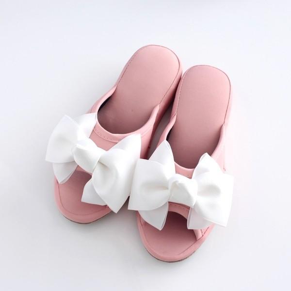 スリッパ ルームシューズ 大きなリボン美脚プリンセスルームシューズ ヒールスリッパ|mirage-style|02