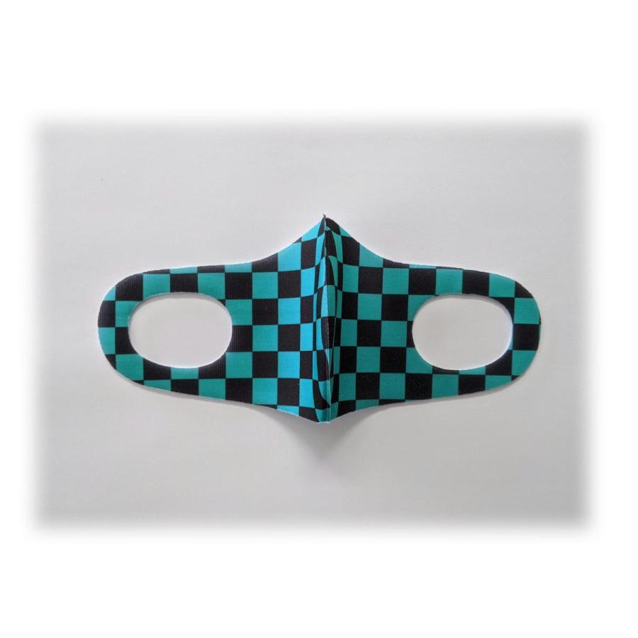 和風 鬼滅の刃風 立体マスク スポンジマスク ふんわり キッズ用 こども用 息がしやすい 立体加工 和柄 市松 麻の葉 散り三角 蝶々 定形外 【和風3枚組】 miraiya18 05