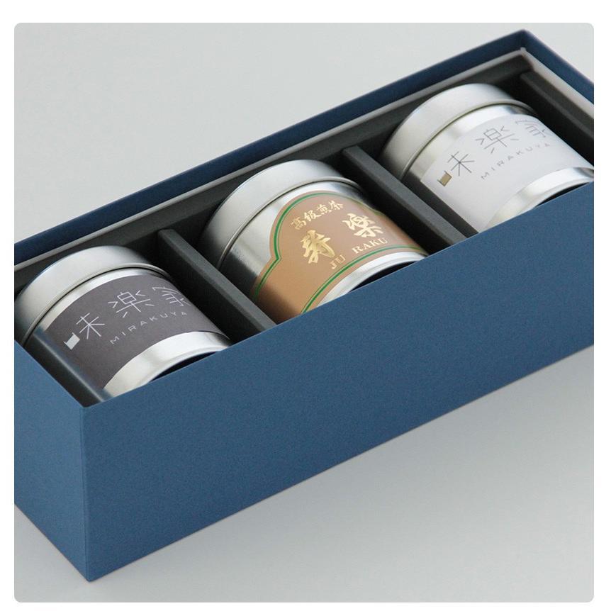 【送料無料】 お茶ギフト 味楽家の3種類のお茶セット 碧玉 特上熱湯出し玉露 寿楽|mirakuya-net|05