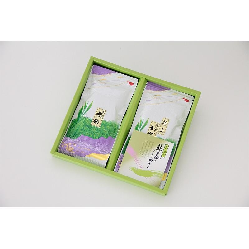 お茶ギフト 味楽家の2種類のお茶セット 寿楽 特上熱湯出し玉露|mirakuya-net|05