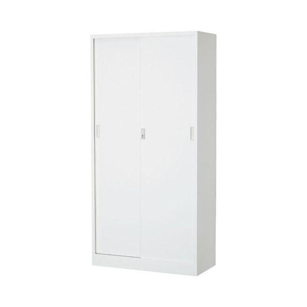 オフィス向け 一般書庫・ホワイト 3×6型引違書庫 1号鉄戸 COM-603D-W