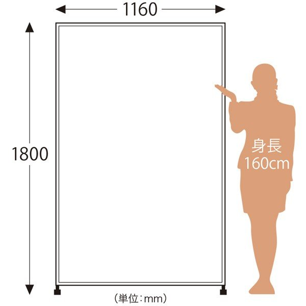 大型ミラー ダンスミラー スタンドミラー 細枠 キャスター 姿見 大型鏡 全身鏡 116幅 180高|mirror-eames|02