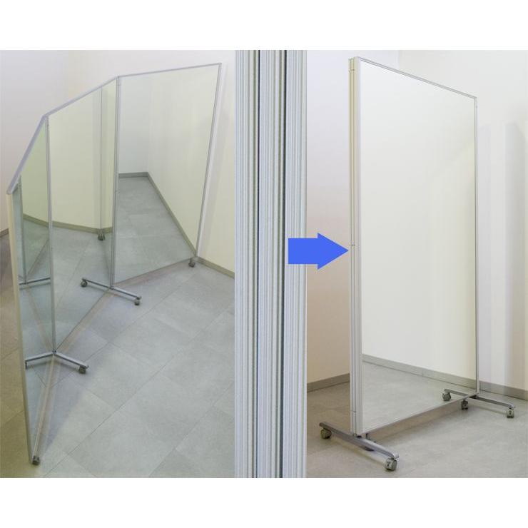 鏡 全身 大型ミラー 全身鏡 ダンスミラー スタンドミラー 折りたたみ 姿見 幅2700 高さ1800|mirror-eames|04