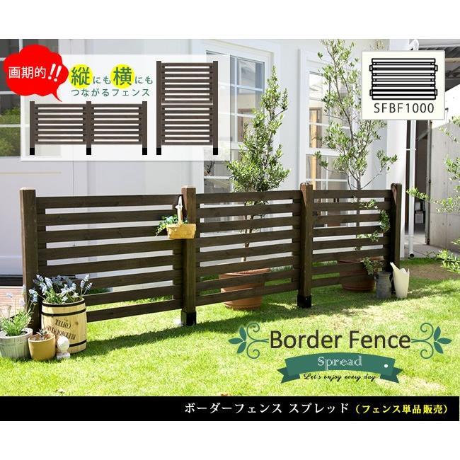 フェンス 天然木製 境界 庭 ガーデン ボーダーフェンス スプレッド フェンス単品販売 SFBF1000|mirror-eames|02