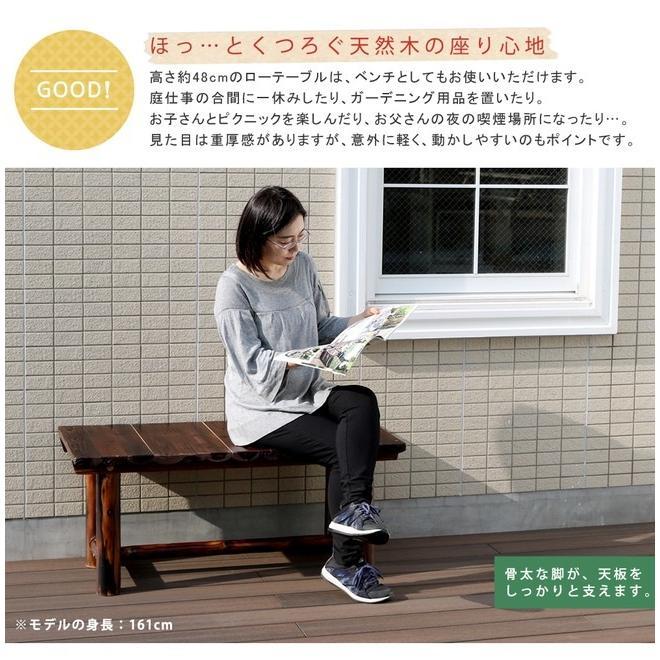 焼杉テーブル WB-T550DBR|mirror-eames|05