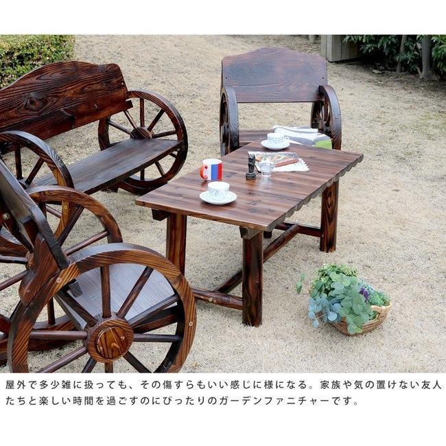 焼杉テーブル WB-T550DBR|mirror-eames|09