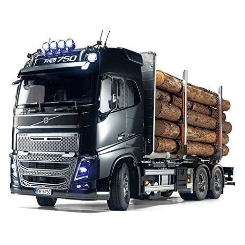 タミヤ 1/14 電動RCビッグトラックシリーズ No.60 ボルボ FH16 グローブトロッター750 6x4 ティンバートラック 563