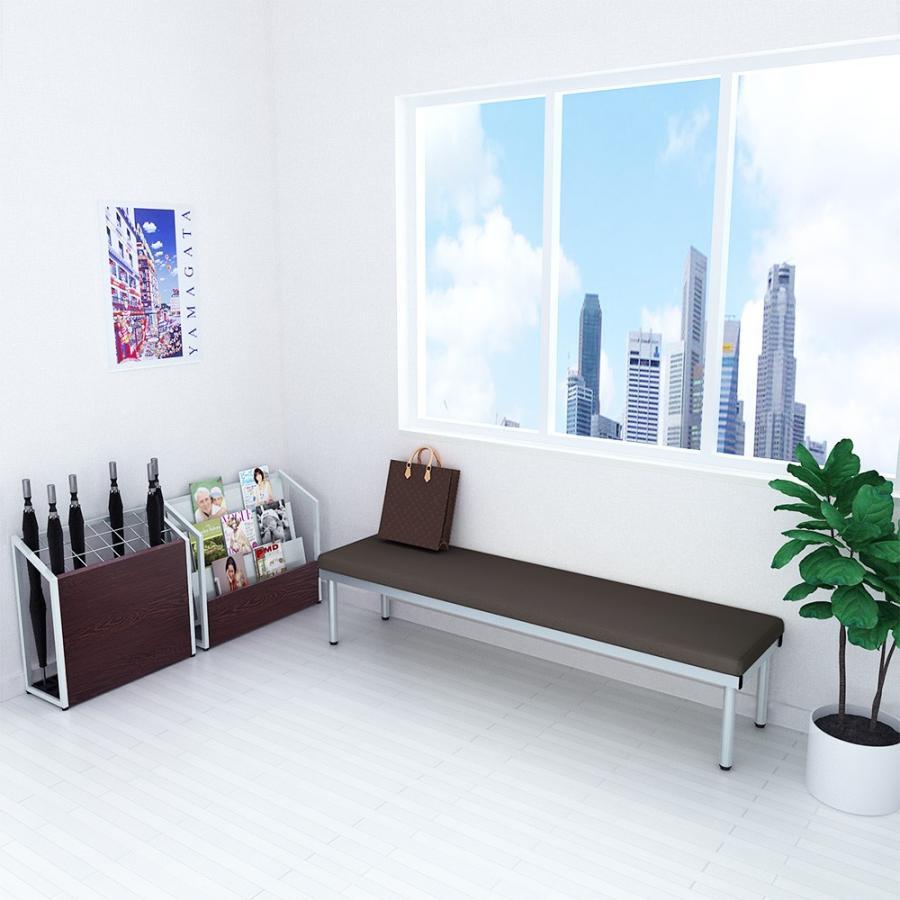 長椅子 ベンチ ロビーチェアー 幅180cm 平型 待合室 ブラウン|misae|02