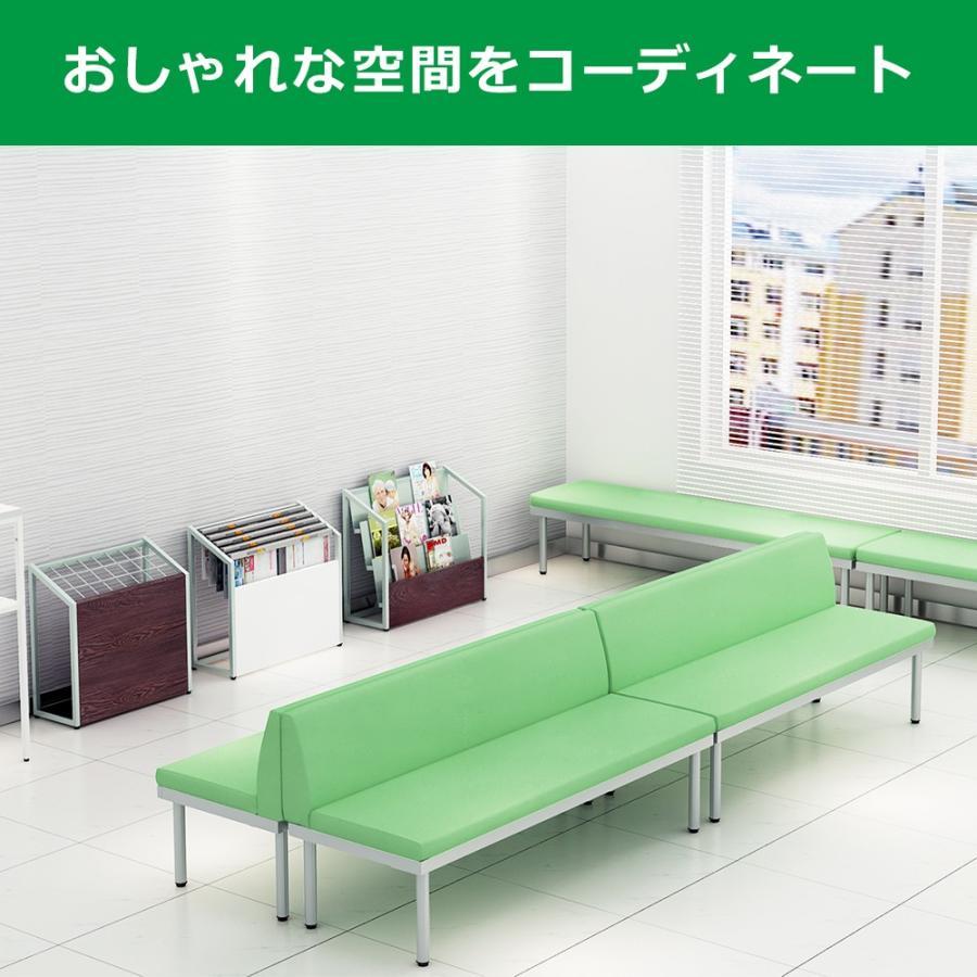 長椅子 ベンチ ロビーチェアー 幅180cm 背もたれ付き 待合室 グリーン misae 09