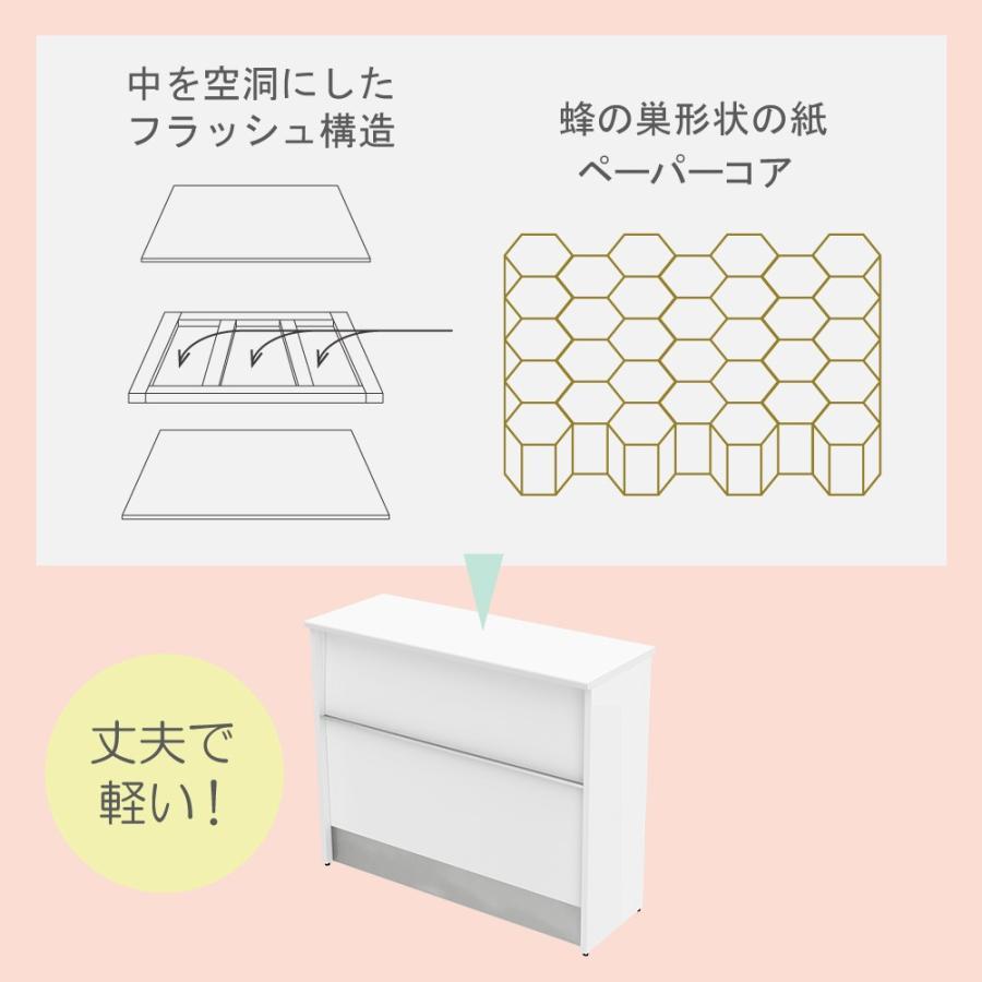 ハイカウンター オフィス 受付 150cm スチール 受付カウンター おしゃれ ホワイト|misae|05