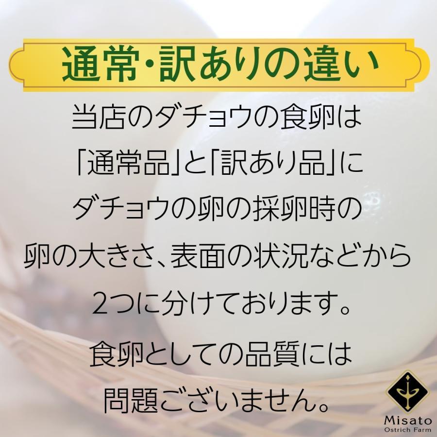 みんなに食べて欲しいから!今だけ3,980円【送料無料♪国産ダチョウ食卵 通常サイズ】駝鳥/ダチョウ/ダチョウの卵/駝鳥の卵 misato-ostrich 03