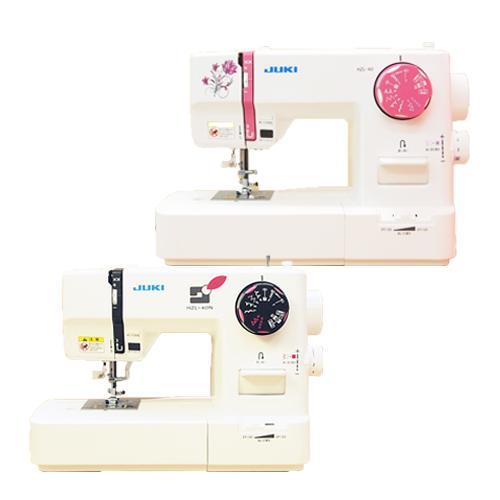 JUKI(ジューキ)コンパクトミシン HZL-40 HZL-40N(DVD付) ピンク ブラック【送料無料】【レビューを書いて5年保証】[HZL40]|mishinyasan