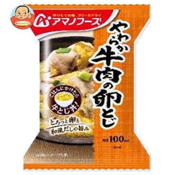 アマノフーズ フリーズドライ 小さめどんぶり 牛とじ丼 4食×12箱入