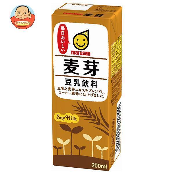 新作入荷 マルサンアイ 豆乳飲料 本物◆ 200ml紙パック×24本入 麦芽