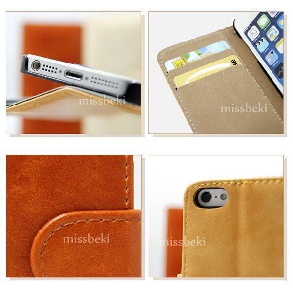 iPhoneXS スマホケース iPhoneX iPhone6 iPhone5/5s/SE(第1世代) アイフォン 手帳型 スマホカバー レザー ダイアリーケース 送料無料|missbeki|03