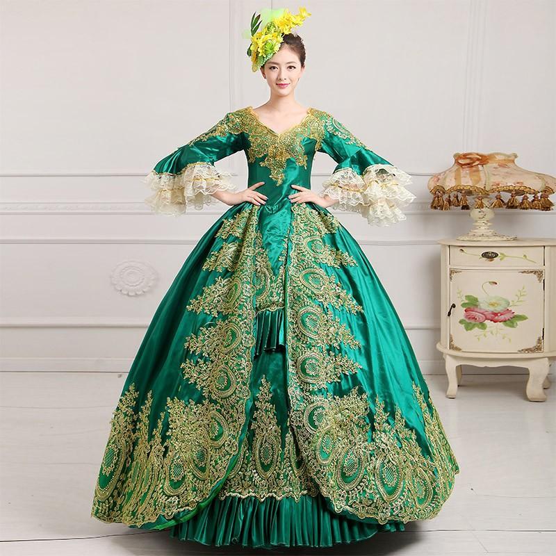 カラードレス 演奏会 宮廷ドレス 演出服 ヨーロッパ 貴族風 ウェディングドレス コスプレ衣装洋装 パーティードレス ステージ レトロ 舞踏会 豪華ドレス